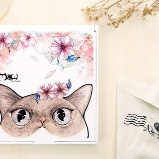 Good meow exquisite square Mirrors - Flower cat