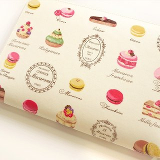 Sweetheart pale yellow macarons afternoon tea. Baby Book / Manual mom / cloth slipcase / Universal Storage bag