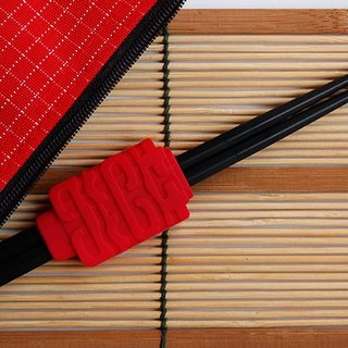 囍 Come to the chopstick holder group_Chopsticks bag red