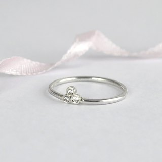 Sterling Silver CZ Diamond Ring