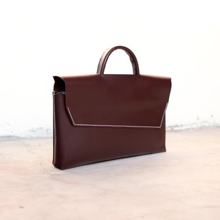 09. hand-stitched leather briefcase