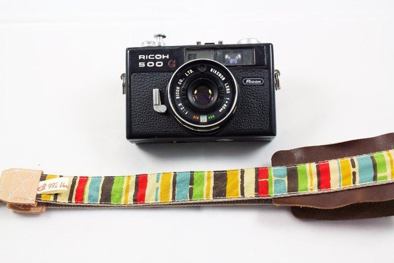 手作單眼.類單眼減壓相機背帶.相機背繩---彩虹直條款