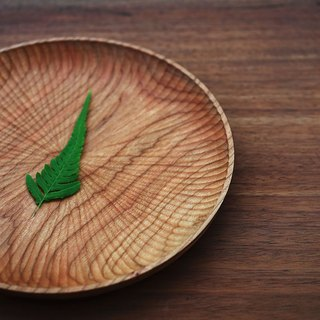 {String} • living hand-made wooden utensils wooden cutlery tray Cherry wood tray disc