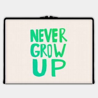 Axis - Custom 3-Sided Zipper Laptop Sleeve - Never Grow Up
