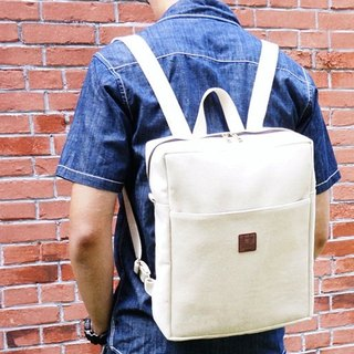 Tofu Brick Backpack - (Natural Color)