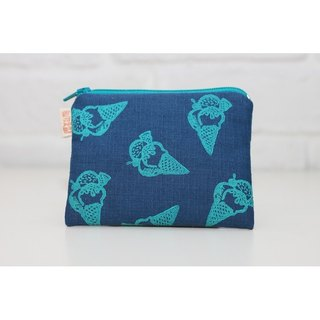 Fantasy series _ rich dessert cones Purse blue section