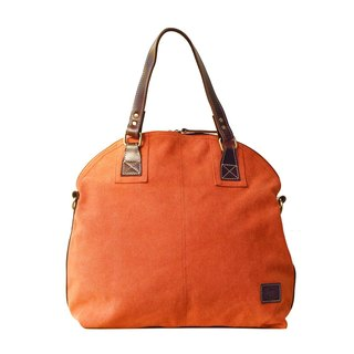 [Happa] Dome canvas shoulder bag - stonewashed canvas classic (Rust rust orange)