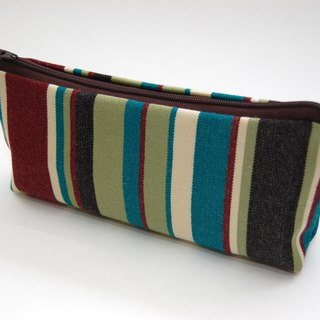 Casual-life hand-made fashion striped cosmetic bag / admission package