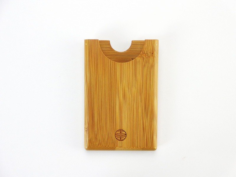 Cardcase business card holder [bamboo] [Green] [natural decomposition]