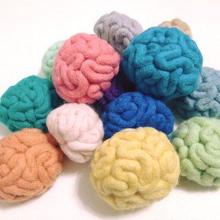 Brain-Wool felt  (key ring or Decoration)