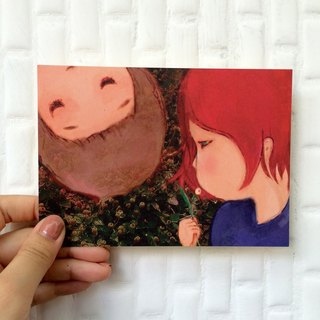 ┇eyesQu┇ two ┇ illustration postcard