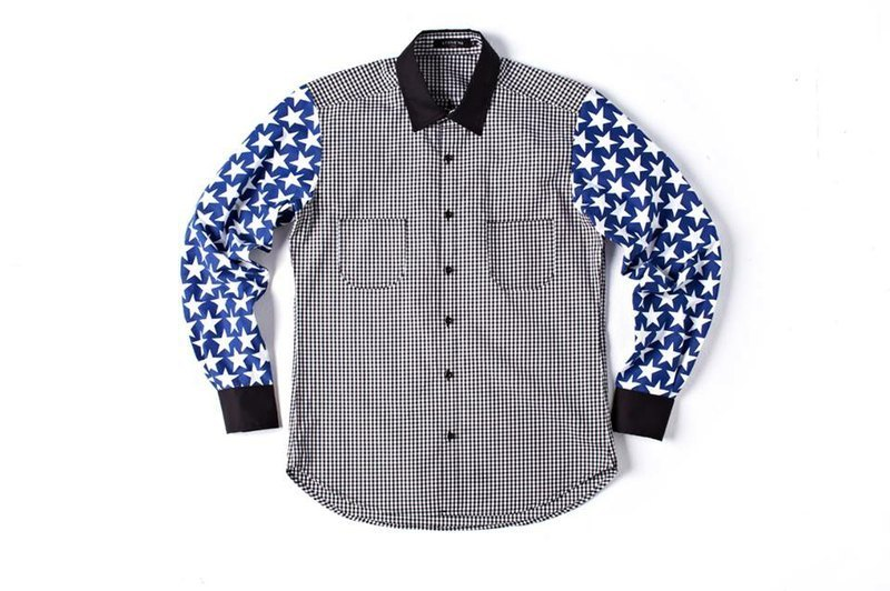 Stone'As Stars Print & Check Shirt / 星星格子襯衫