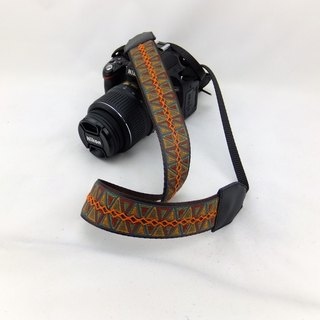 Camera strap can print personalized custom leather stitching national wind embroidery pattern 014