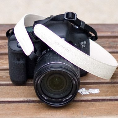 HIPSIONG leather camera strap -Banyan (white)