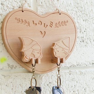 [Chinese Valentine's Day gift] [new wedding gift] puppet odd apartment custom key ring hanging version