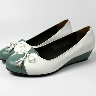 Sweet green wedge heel