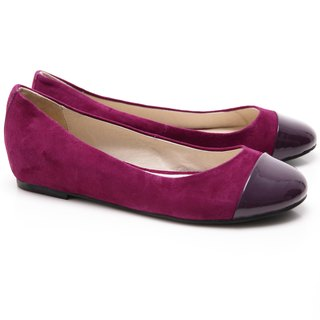 [Saint Landry] LAND patent leather ballet shoes stitching design (purple)