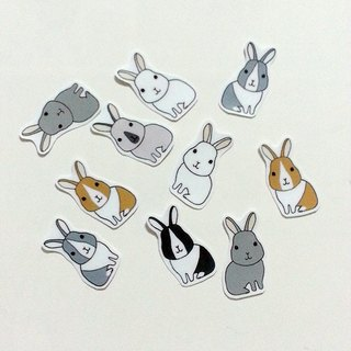 rabbit. Sticker (synthetic s)