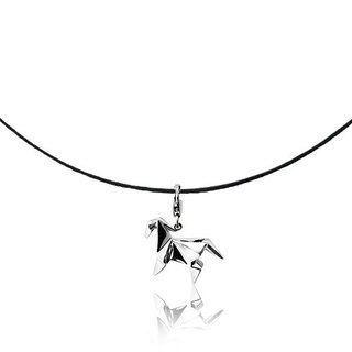 Origami vitality pony fairy Silver Necklaces