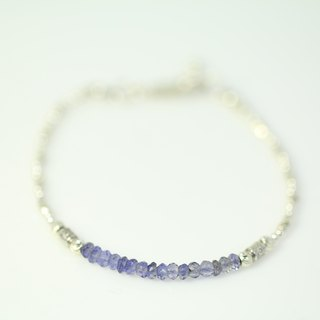 [ColorDay] Galaxy series ~ cordierite <Lolite> 925 sterling silver bracelets