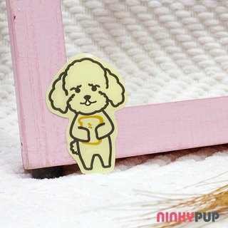[Reflective stickers] adorable poodle dog infested