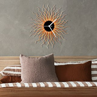 Medusa - large sized contemporary wooden wall clock