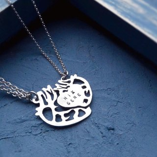 ▽-HEART-▽ Necklace- 999 silver couple necklace