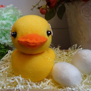 Lace yellow duckling doll socks doll