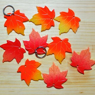 Autumn has come <Maple> Pets brand, logo, key rings