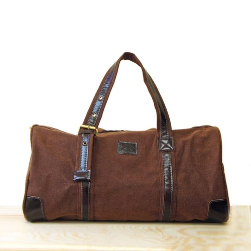 [Happa] will style bag - Belt Long put - stonewashed canvas classic (Brown earth Brown)
