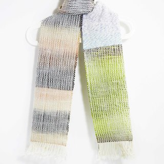 Christmas gifts exchange gifts hand-woven feel merino scarves - Matcha latte colors