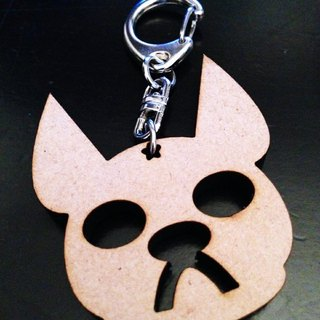 JokerMan- faithful dog biscuit wooden key ring [Customizable]