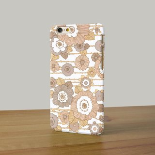 Flower pattern earth tone brown cr13 3D Full Wrap Phone Case, available for  iPhone 7, iPhone 7 Plus, iPhone 6s, iPhone 6s Plus, iPhone 5/5s, iPhone 5c, iPhone 4/4s, Samsung Galaxy S7, S7 Edge, S6 Edge Plus, S6, S6 Edge, S5 S4 S3  Samsung Galaxy Note 5, No