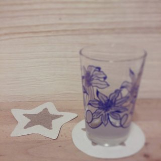 Star absorbent coasters (2 in)