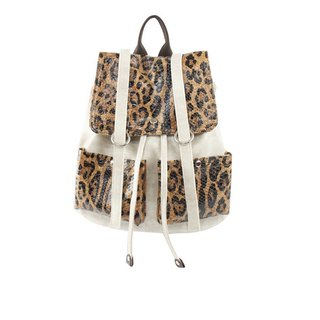 AMIMAH-personality. Original. Flash cool leopard backpack [am-0219]