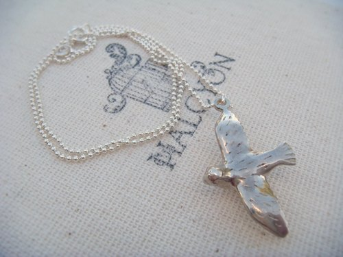 Dove in Flight Necklace