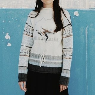 Spend vintage | Lovers sweater Hong Kong made the snow