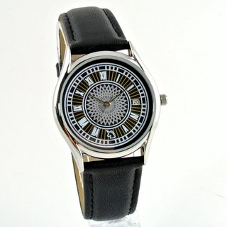 UNI VINTAGE - Silver Big Ben Calendar Watch