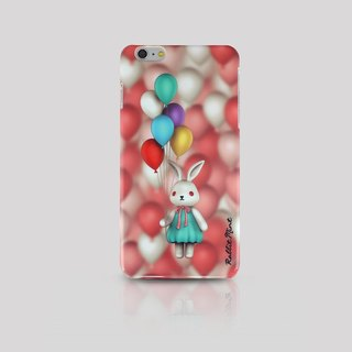 (Rabbit Mint) Mint Rabbit Phone Case - Bu Mali balloons Series Merry Boo - iPhone 6 Plus (M0009)
