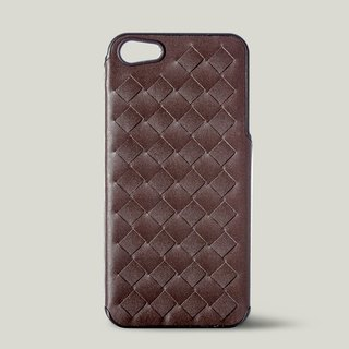 [Price Down Price Drops ↓] ivicase - iPhone 5 / 5S leather phone case - Coffee [knitting]