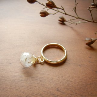 *coucoubird*Dandelion ring / hanging models - gold
