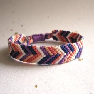 Visual party personality lucky rope woven bracelet (optional color)