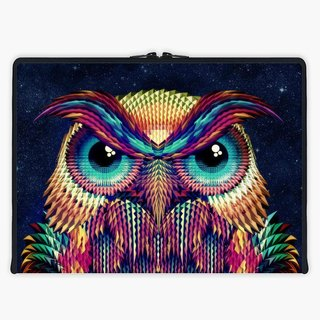 Axis - Custom 3-Sided Zipper Laptop Sleeve - Owl 2