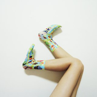 O+S=Yammy Cream  Double-sided ice cream cupcake colorful Printed Socks
