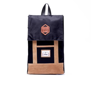 RITE | green paper bag - nylon black | after the original removable backpack