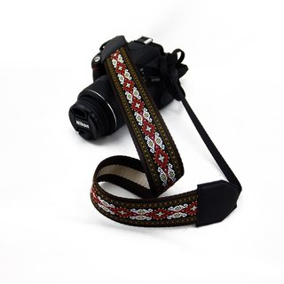 Camera strap can print personalized custom leather stitching national wind embroidery pattern 010