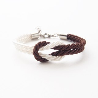 White and Chocolate rope knot bracelet