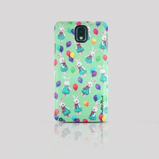 (Rabbit Mint) Mint Rabbit Phone Case - Bu Mali balloons Series Merry Boo - Samsung Note 3 (M0010)