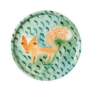 Fox In The Leaves Limited Hand-Painted Plate | Donna Wilson