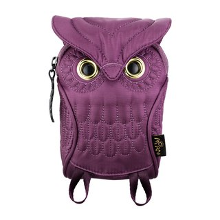 Morn Creations Genuine Owl Mobile Bag (S) - Purple (OW-105-PP)
